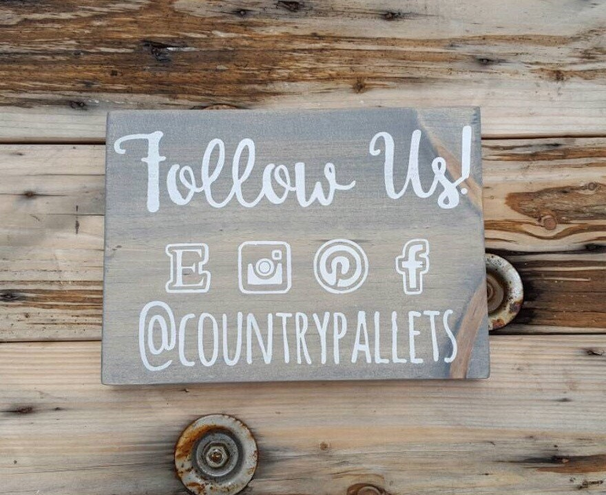 Wooden sign social media craft show display custom sign for How to display wood signs at craft show