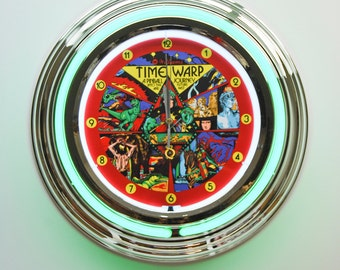 Pinball Officially Licensed Premium Neon Wall Clock 6 - Ideal Pinball Gifts