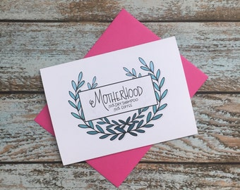 New mom / Mother's Day/ motherhood Card