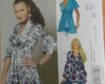Sewing Pattern Mccall's 6202 Misses' tops size 6 to 14