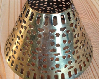 Unique Metal Lamp Shade Related Items Etsy