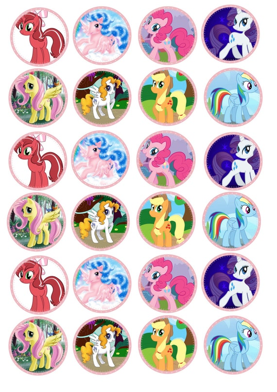 Etsy My Little Pony Cake Toppers
