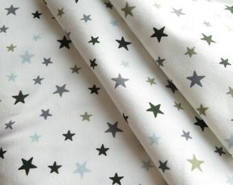 AVALANA Jersey Knits by STOF fabrics   Stars Crème
