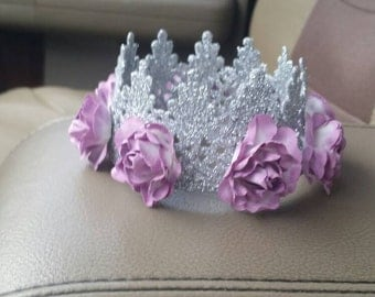 Crown, lace crown, silver