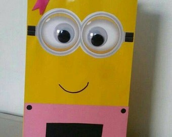 Minion treat bags girl, pink