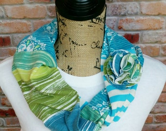 Floral Infinity Scarf for Teacher Gift - Women's Scarf - Lightweight Infinity Scarf- Floral Scarf - Teacher Appreciation - Scarf for Spring