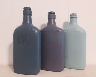 Blue Hues Old Bottle Set