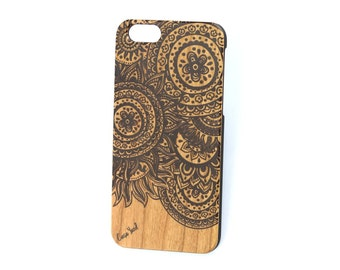 iPhone 7 case, iPhone 6s case, iPhone 6, iPhone 7 plus case, iPhone 6/6s Plus case Doodle Circle Colored wood case