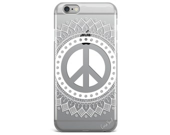 iPhone 8 Case Clear iPhone 8 Plus Case iPhone X Case iPhone 7 Plus case Clear iPhone 7 Case iPhone 6 Case Samsung S8 Case,Peace Mandala