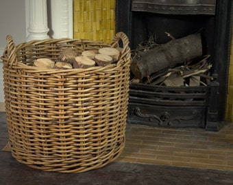 Rattan Log Basket large