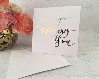 Wedding Card - I Can't Wait to Marry You, Gold Foil Wedding Card, Grooms Card, Card for Groom, Card for Husband, Card from Bride, Wedding