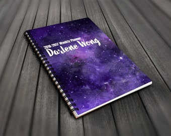 2016-2017 Personalized Galaxy Weekly Planner // Intergalactic