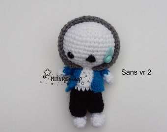 Undertale Sans version 2 Amigurumi, Undertale Plush, Sans Plush, Made to Order, Undertale Amigurumi