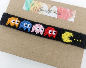 Pac-man Bracelet / Pac-man friendship bracelet / Gamer Jewelry / Pac-man / classic video game accessories / classic pac-man jewelry