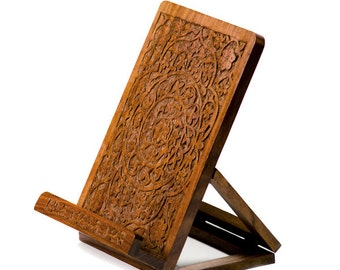 Carved Rosewood Tablet and Book Easel, India, Fair Trade