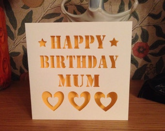Papercut - Happy Birthday Mummy / Mum Card