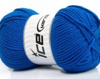 FREE SHIP Ice Yarn Lund Wool Blue Worsted Aran