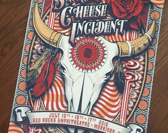The String Cheese Incident - Red Rocks Amphitheater - July 15th, 16th, 17th, 2016 - Print - Conscious Alliance