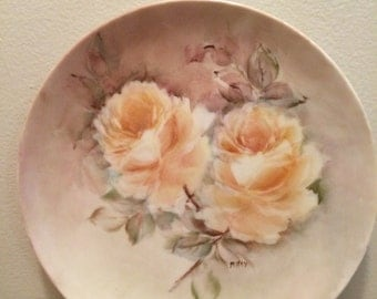Vintage Hand Painted China Plate, 8""