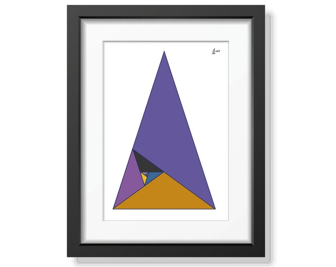 Fibonacci triangles 05 [mathematical abstract art print, unframed] A4/A3 sizes