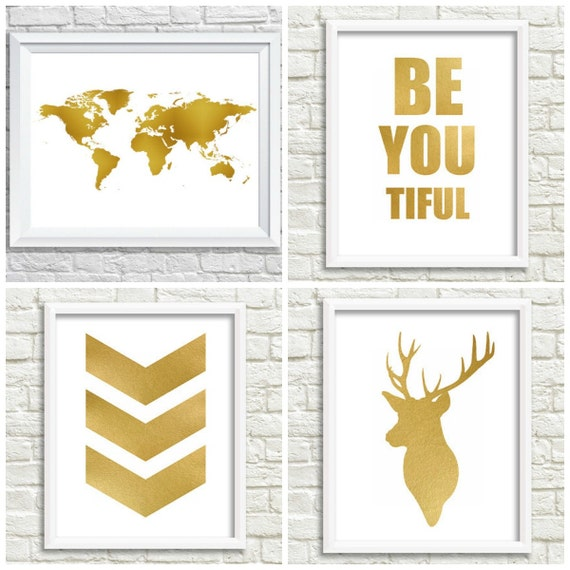 Wall Decor Home Party : Items similar to gold room decor wall
