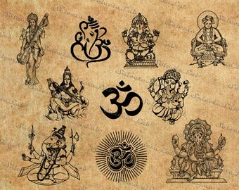 Digital SVG PNG hinduism, religion symbol, hindu, ganesha mask, clipart, silhouette, vector, instant download
