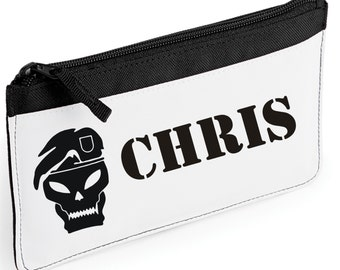 Personalised Soldier/Skull/Call Of Duty Pencil Case
