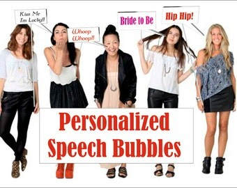 Custom Made Call Out Speech Bubbles (3's)