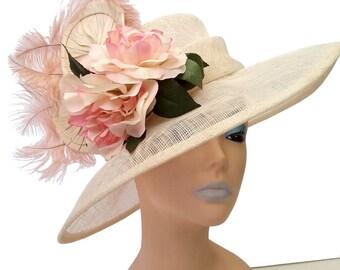 Zoe Pink Magnolias Designer Hat - UH344