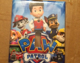 Paw patrol single wallplate switch