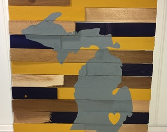 College Wall Hanging - University of Michigan