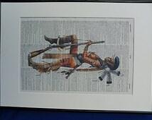 Indian Warrior Woman Wall Art Print No.68, native american, indian print, indian poster, indian art, boyfriend gift, husband gift, tattoo