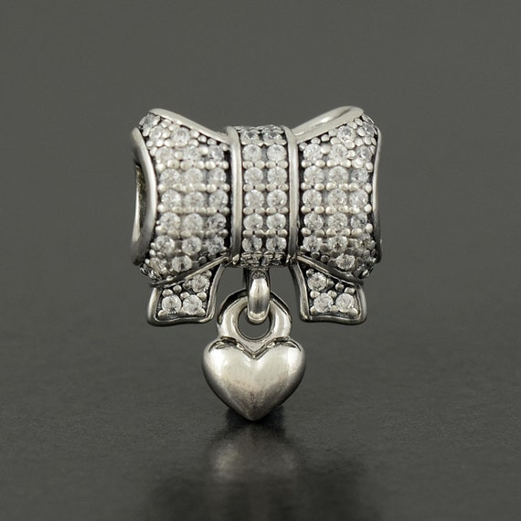 authentic genuine pandora silver bow by amandacomer5