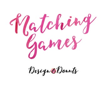 Matching Party/Shower Games Add-On. 5x7 inches - extras