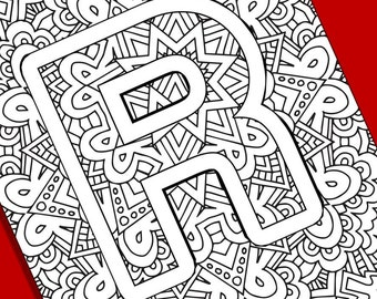 Alphabet Adult Coloring Pages