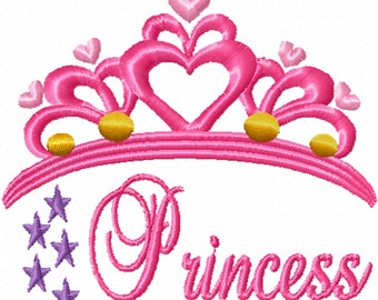 Princess Tiara -A Machine Embroidery Design for the Little Princess