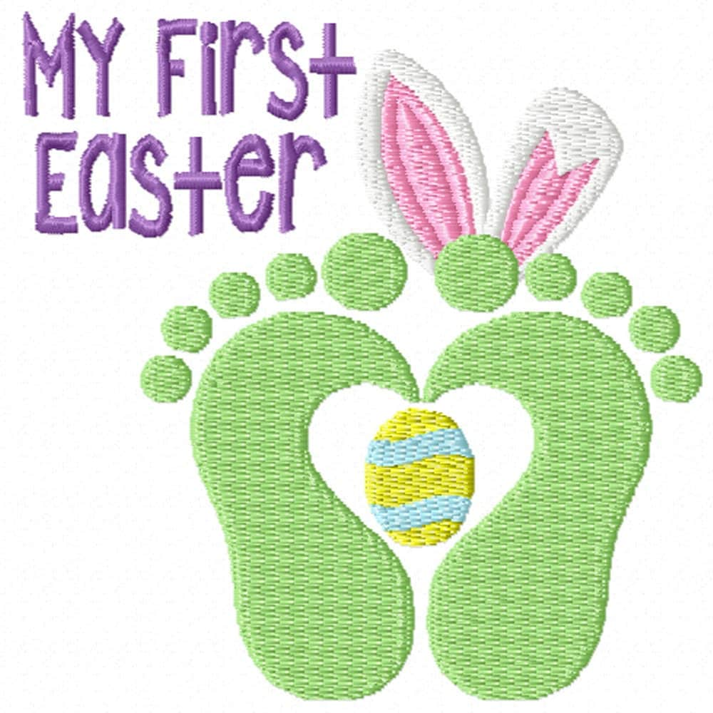 My first easter a machine embroidery design for baby s