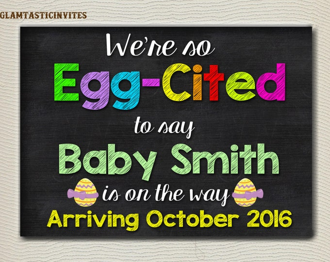 Easter Pregnancy Announcement, Pregnancy Sign, Easter Pregnancy Sign, Pregnancy Chalkboard, Pregnancy Reveal, Easter Reveal, Photo Prop