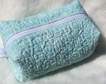 Soft Teal Zippered Bag