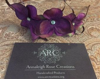 Purple Hydrangea Woodland Fairy Headband