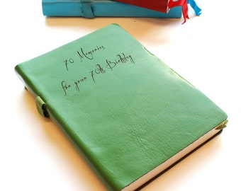 Personalized Leather Notebook/Journal/Doodle Book
