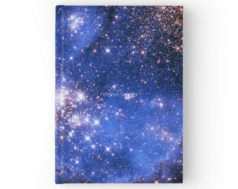Blue Embrionic Stars Hard Cover Journal Book