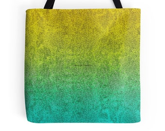 Ocean Sunrise Glitter Gradient Tote Bag, 3 Sizes Available!
