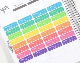 Class Schedule Stickers for Erin Condren Life Planner!