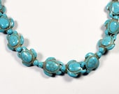 Turquoise Howlite Turtle Beads