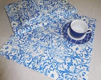 """Linen 100% Tablecloth 140 cm x 200 cm (55""""x79"""") & 6 napkins 40 cm x 40 cm New"""