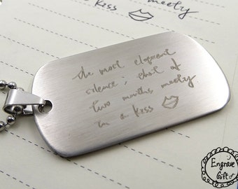 Personalized Dog Tags, Double Dog Tags, Army Wife Necklace, Military Wife Necklace, Military wife gift, Customized Engraving