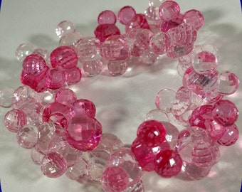 Disney Mickey Mouse Pink and Clear Beaded Stretch Bracelet available at parks only, except this one :)