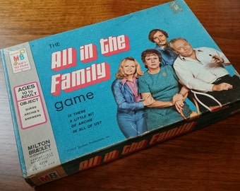 Vintage All in the Family Game/Milton Bradley/1972/Television Memorabilia/Game Room Decor