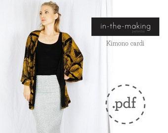 Womens Kimono cardi  pattern PDF